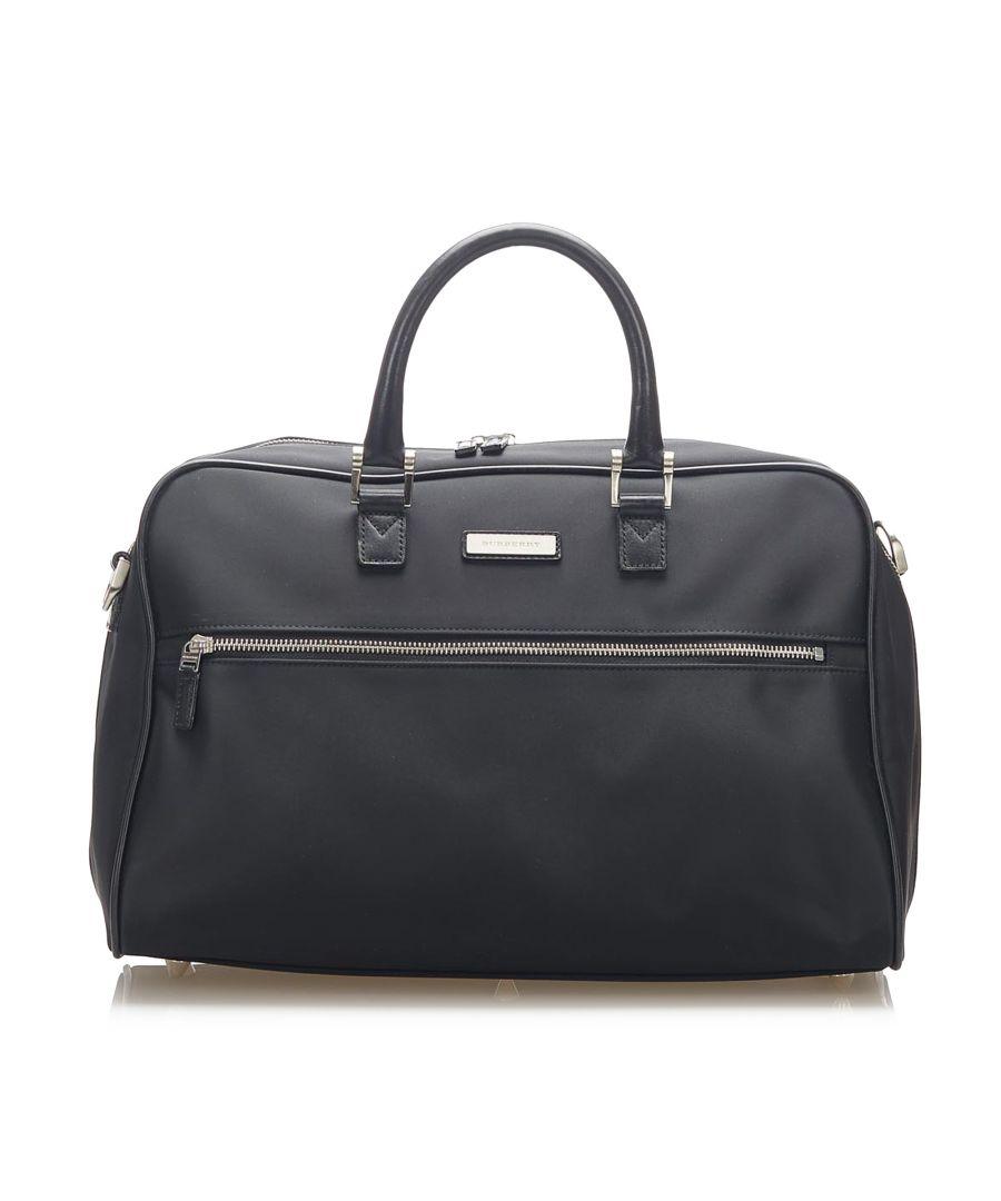 Image for Vintage Burberry Nylon Travel Bag Black