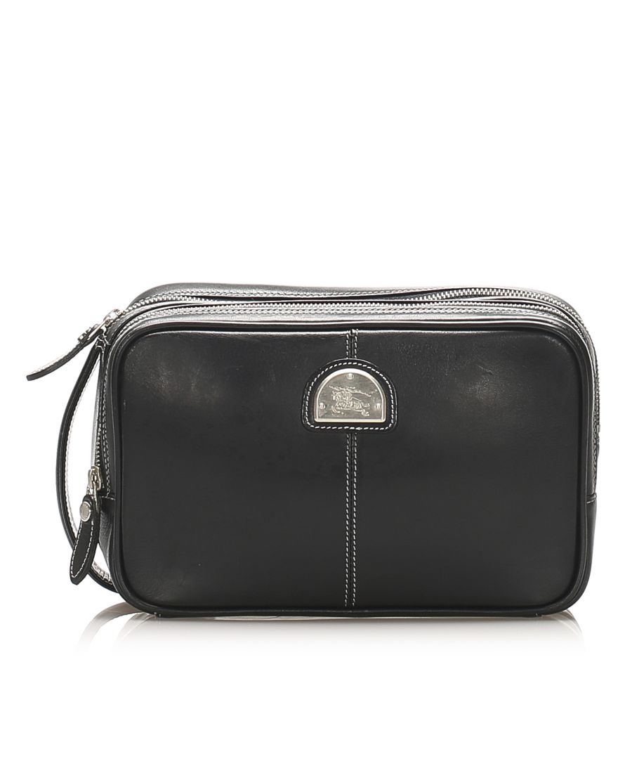 Image for Pre-owned Burberry Leather Pouch Black