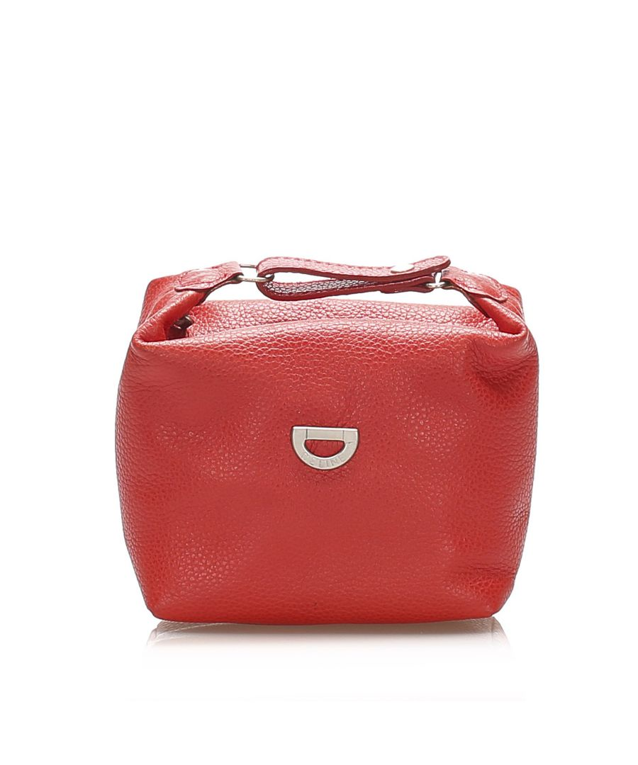 Image for Vintage Celine Leather Pouch Red