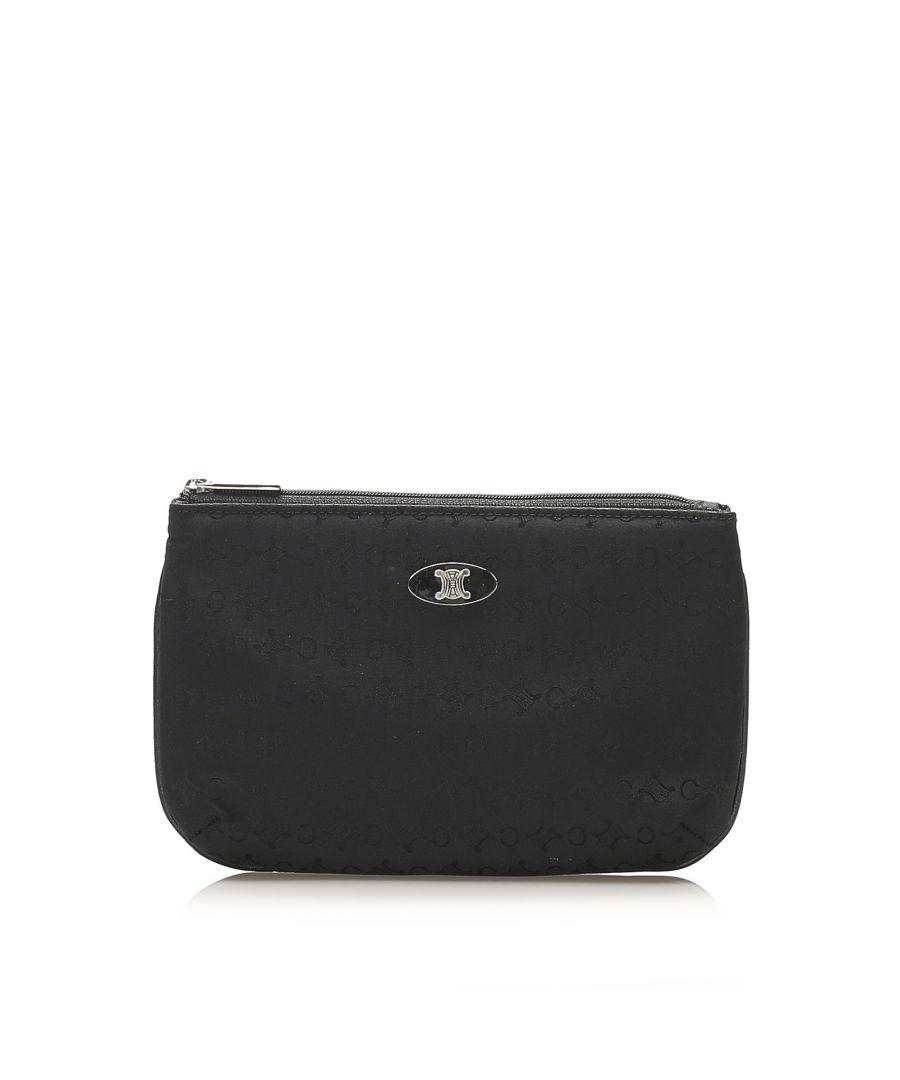 Image for Vintage Celine C Macadam Canvas Pouch Black