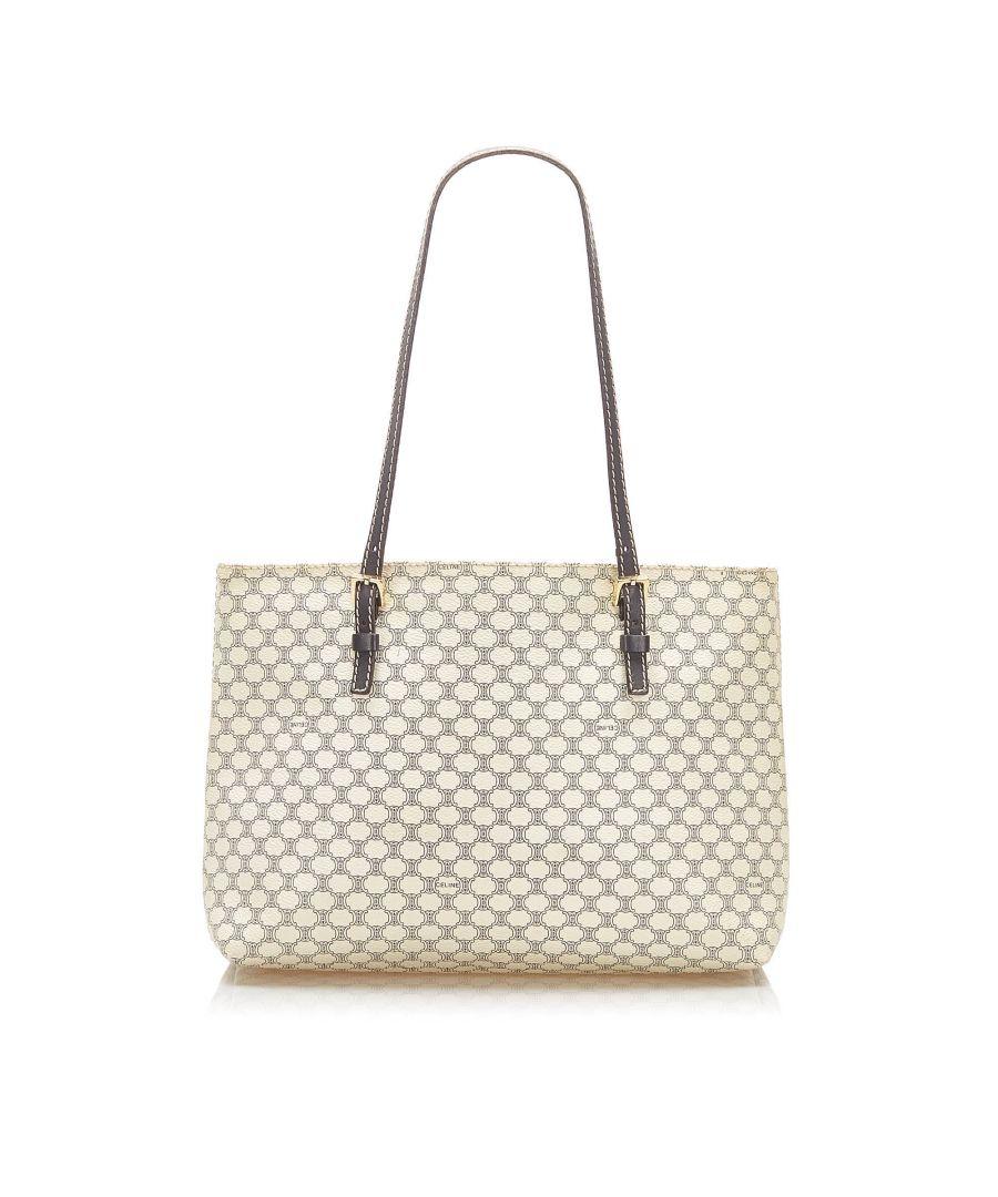 Image for Vintage Celine Macadam Tote Bag White