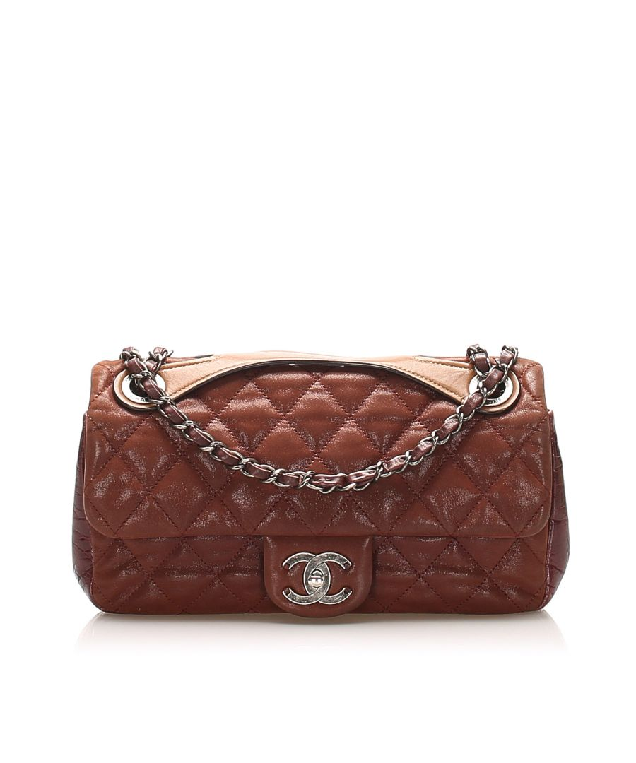 Image for Vintage Chanel Classic Leather Flap Satchel Red