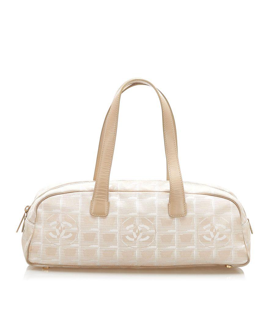 Image for Vintage Chanel New Travel Line Canvas Handbag Brown
