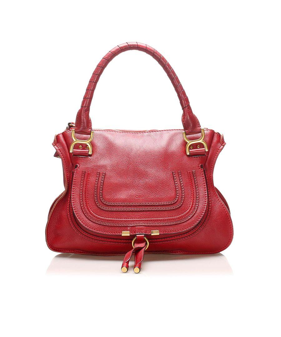 Image for Vintage Chloe Marcie Leather Handbag Red