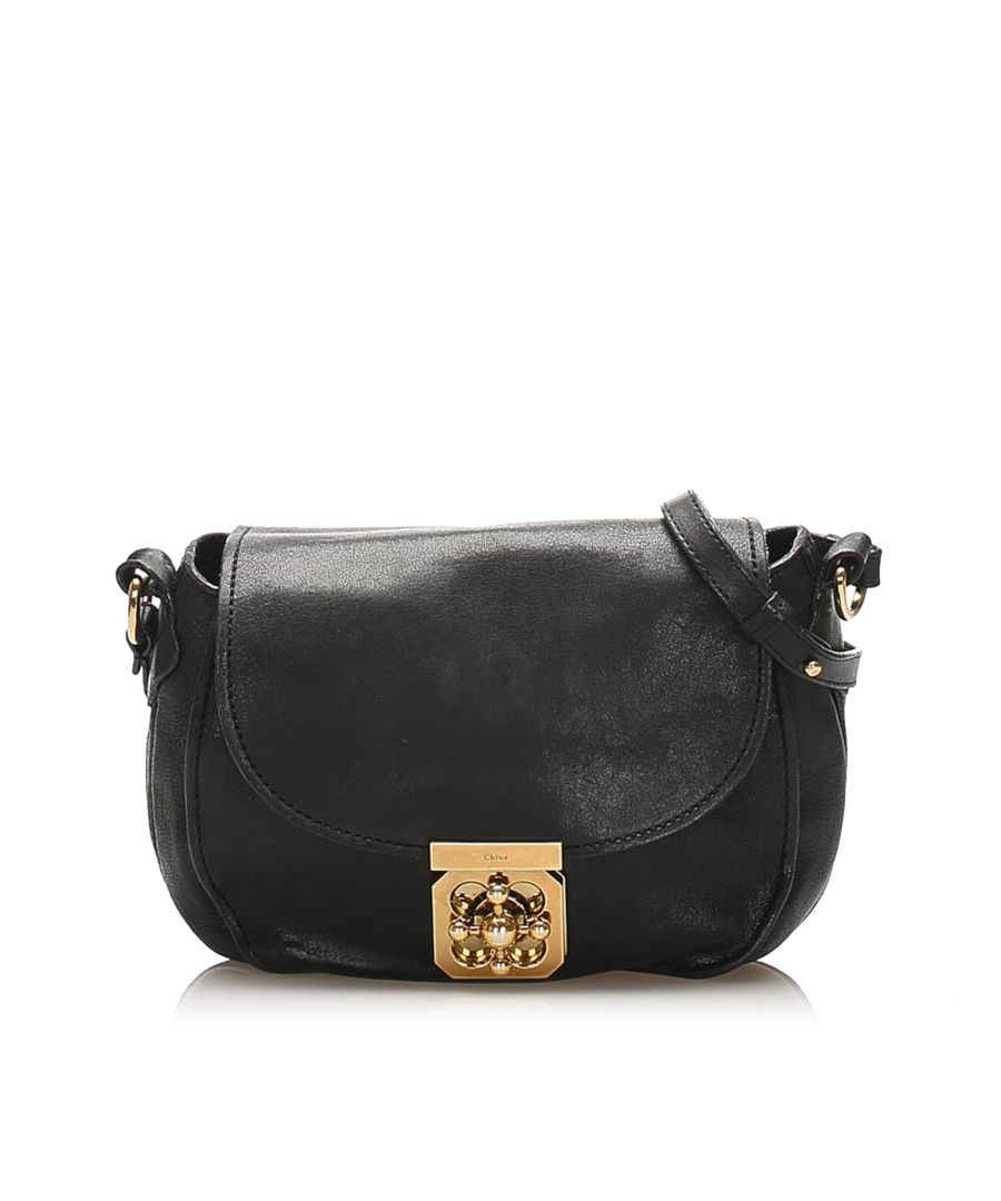 Image for Vintage Chloe Elsie Leather Shoulder Bag Black
