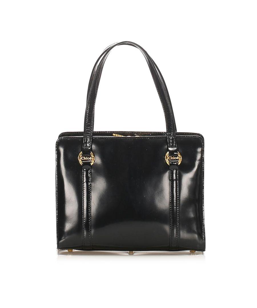 Image for Vintage Chloe Leather Handbag Black