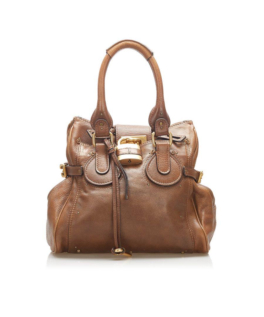 Image for Vintage Chloe Paddington Leather Shoulder Bag Brown
