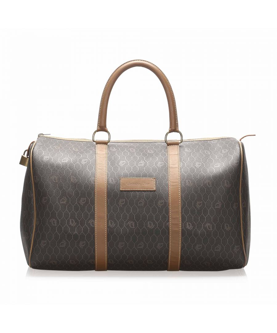 Image for Vintage Dior Honeycomb Boston Bag Black
