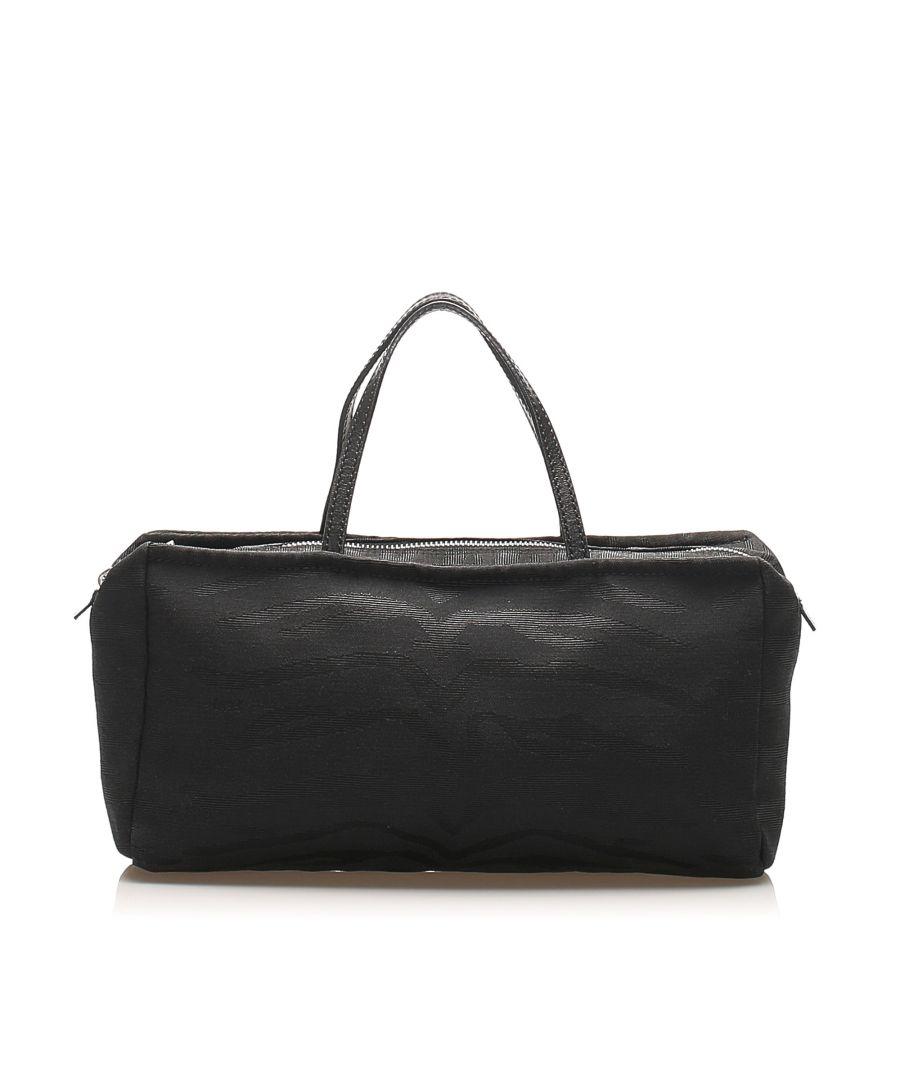 Image for Vintage Fendi Canvas Handbag Black