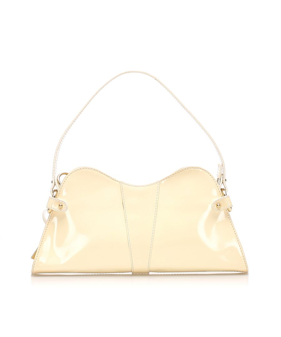 Image for Vintage Fendi Patent Leather Baguette White
