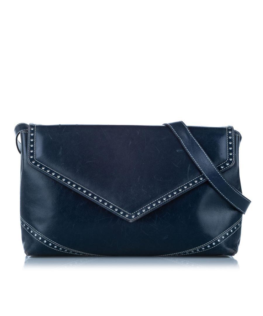 Image for Vintage Ferragamo Leather Crossbody Blue