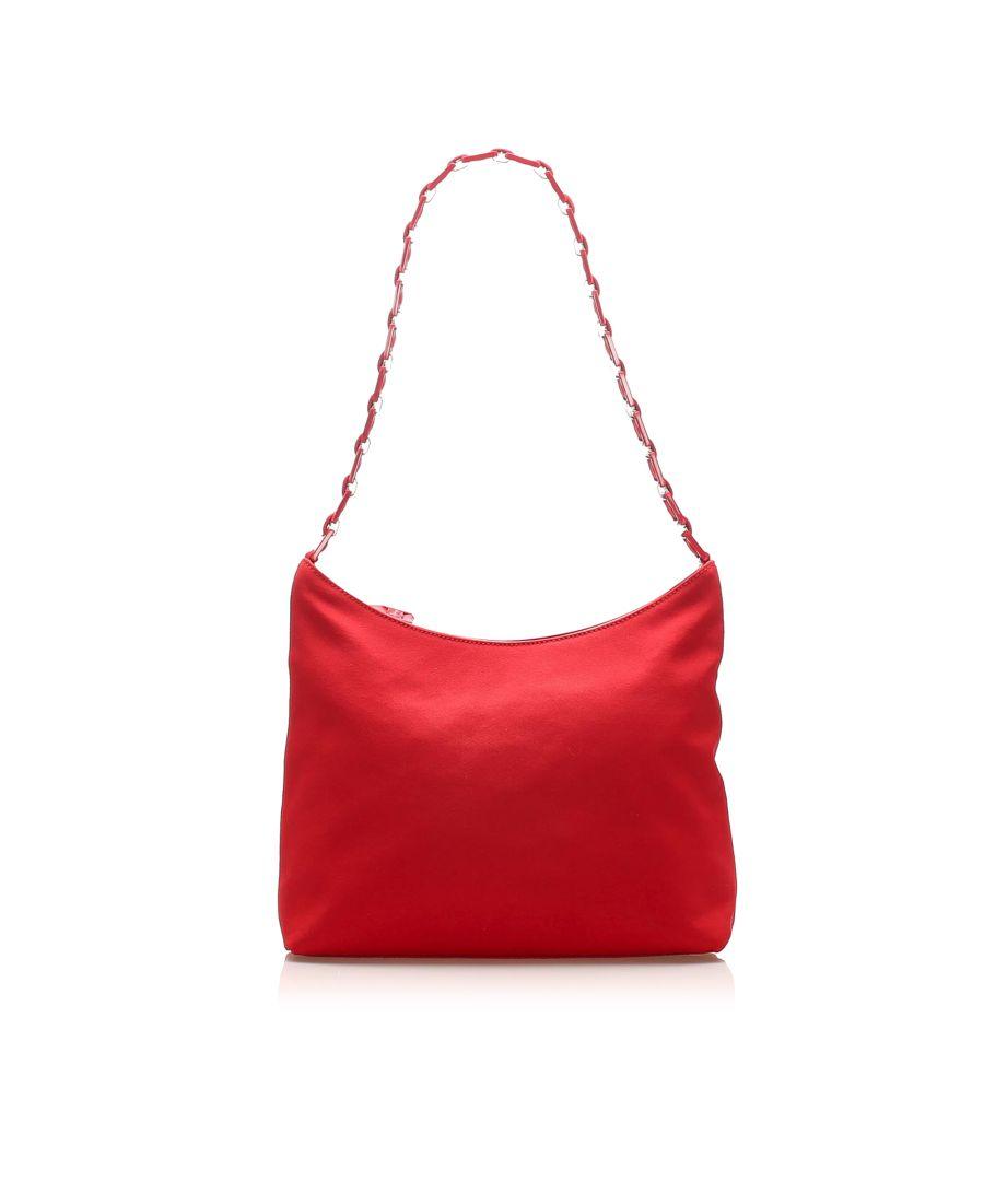 Image for Vintage Ferragamo Vara Nylon Shoulder Bag Red