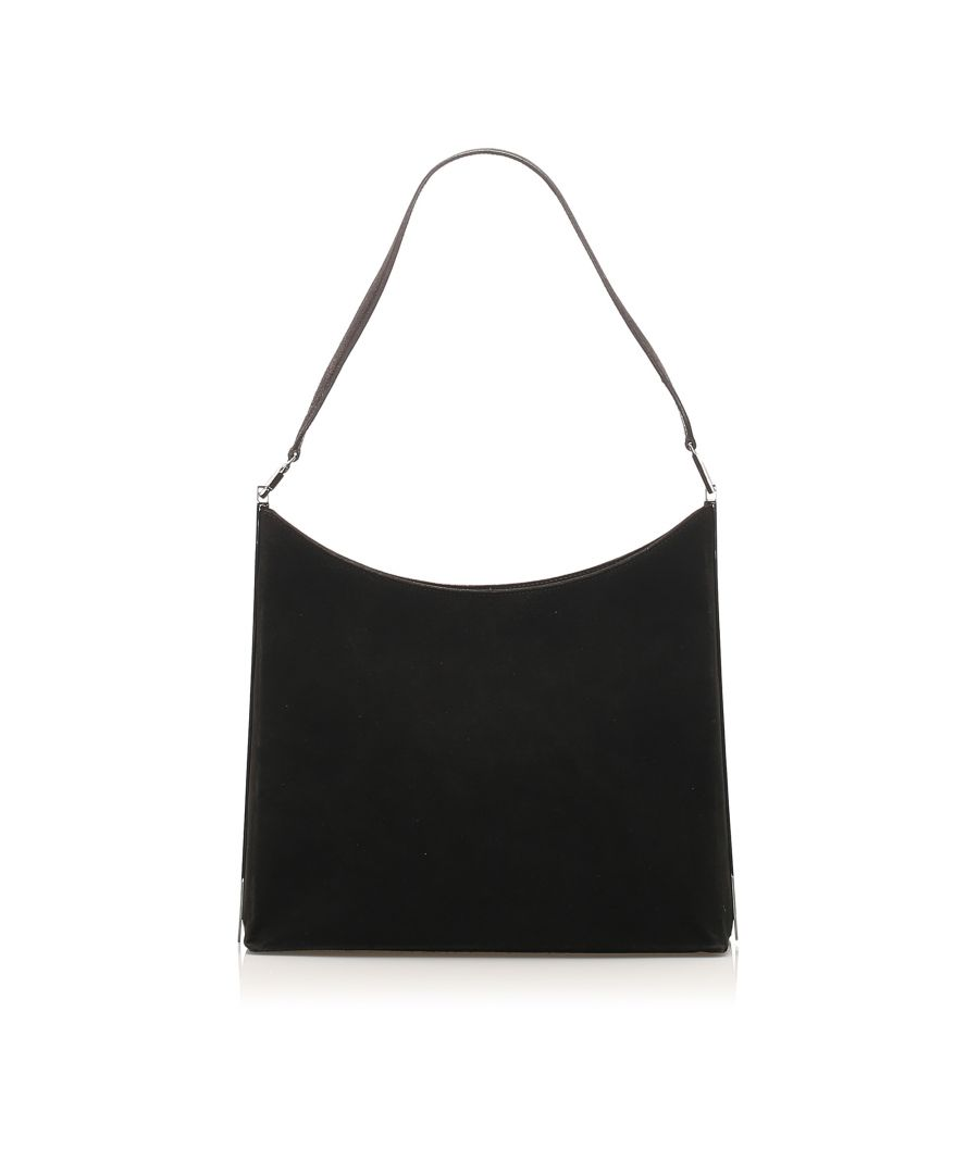 Image for Vintage Ferragamo Leather Shoulder Bag Black