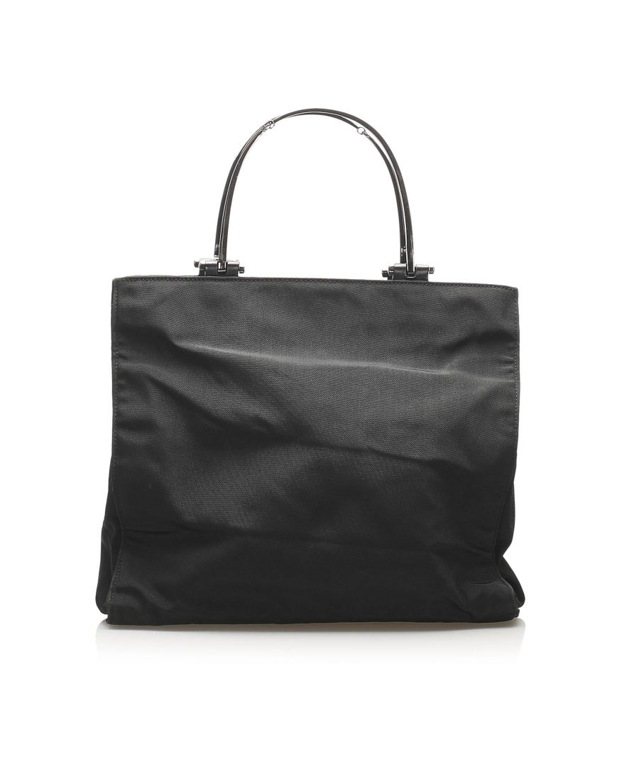 Image for Vintage Gucci Nylon Handbag Black