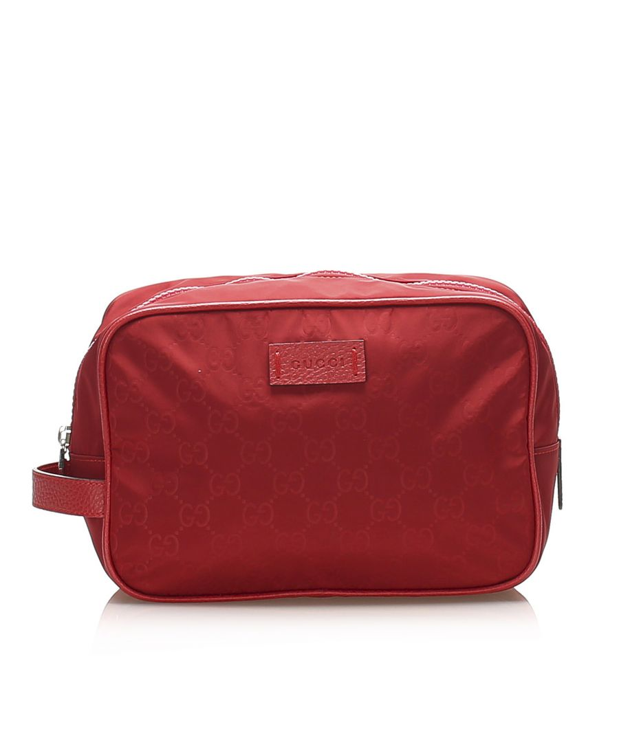 Image for Vintage Gucci GG Nylon Pouch Red