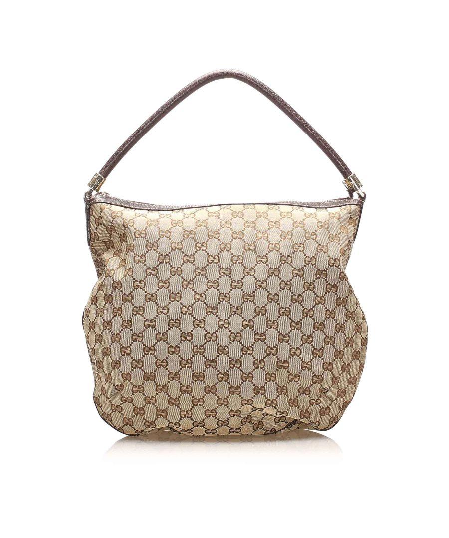 Image for Vintage Gucci GG Canvas Hobo Bag Brown