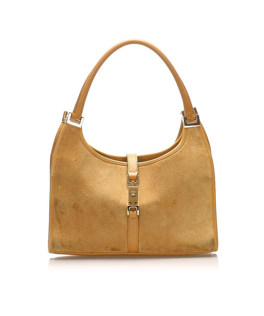 Image for Vintage Gucci Jackie Suede Shoulder Bag Brown