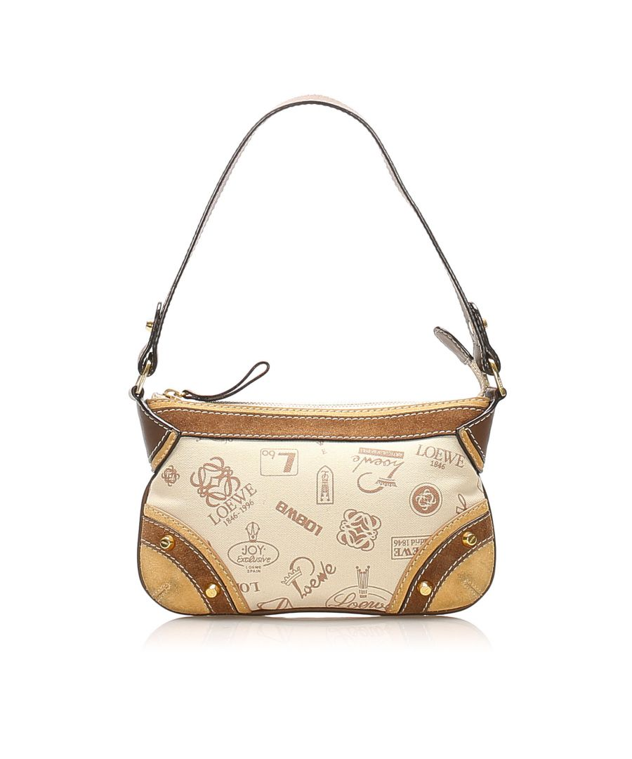 Image for Vintage Loewe 160th Anniversary Canvas Baguette Brown