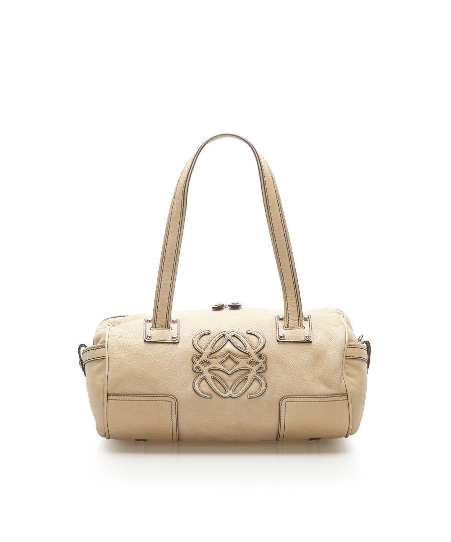 Image for Vintage Loewe Anagram Leather Shoulder Bag Brown