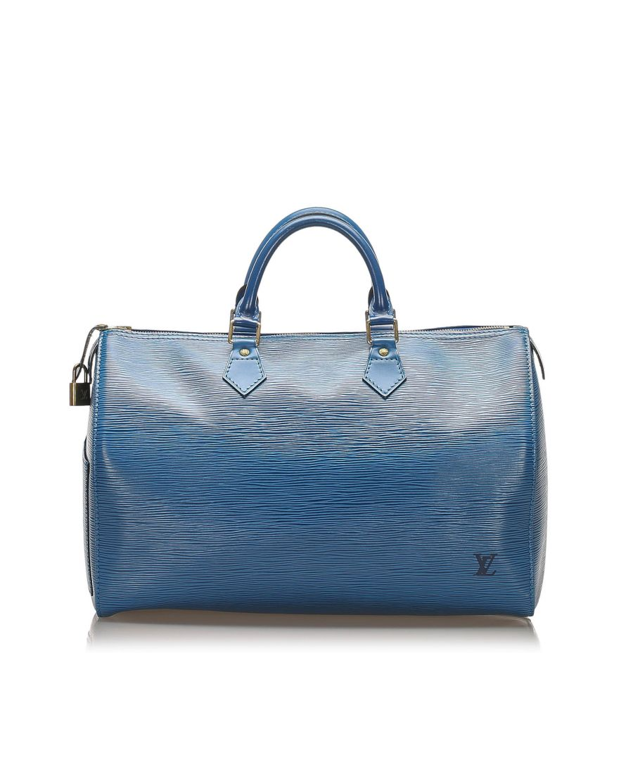 Image for Vintage Louis Vuitton Epi Speedy 35 Blue
