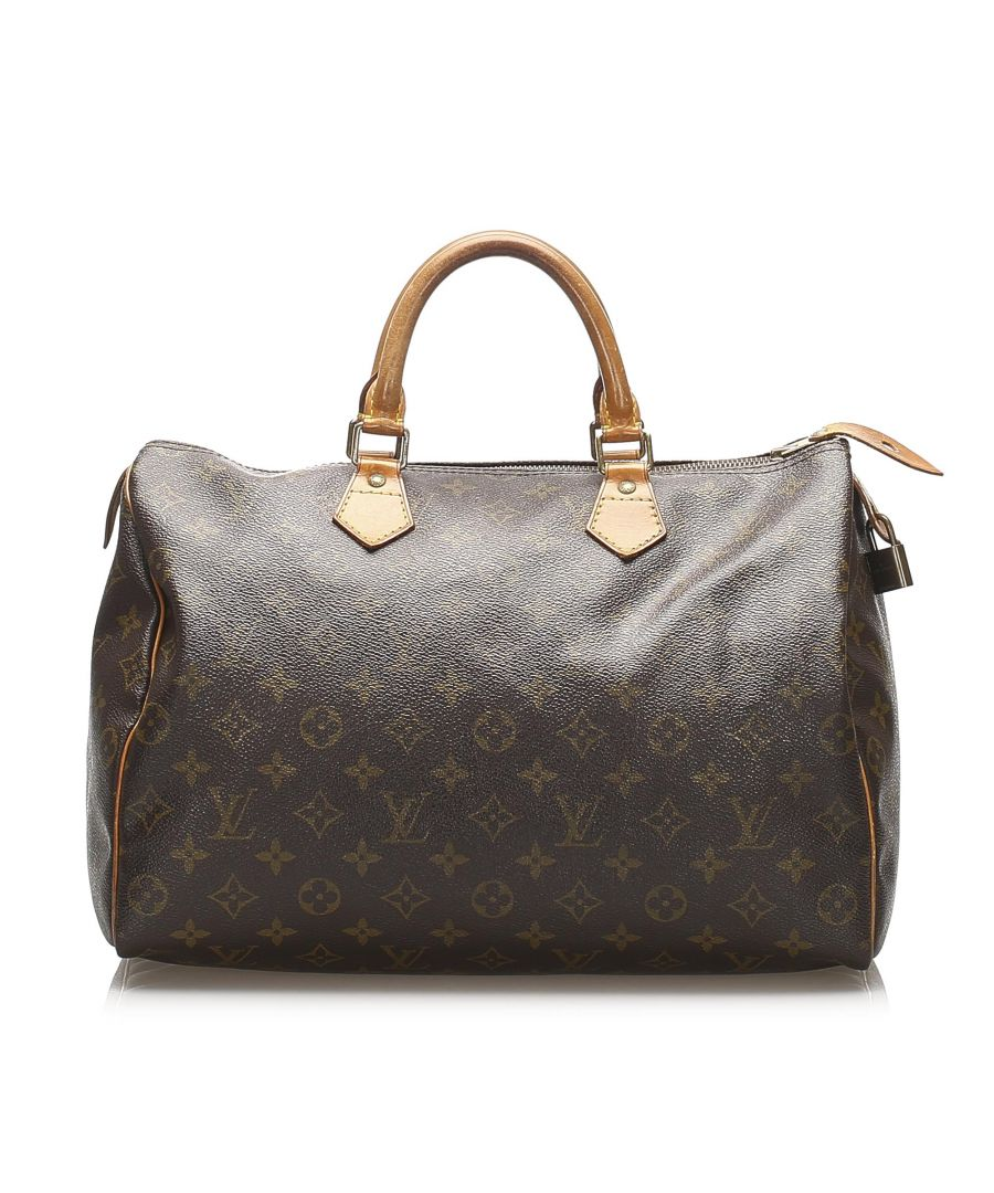 Image for Vintage Louis Vuitton Monogram Speedy 35 Brown