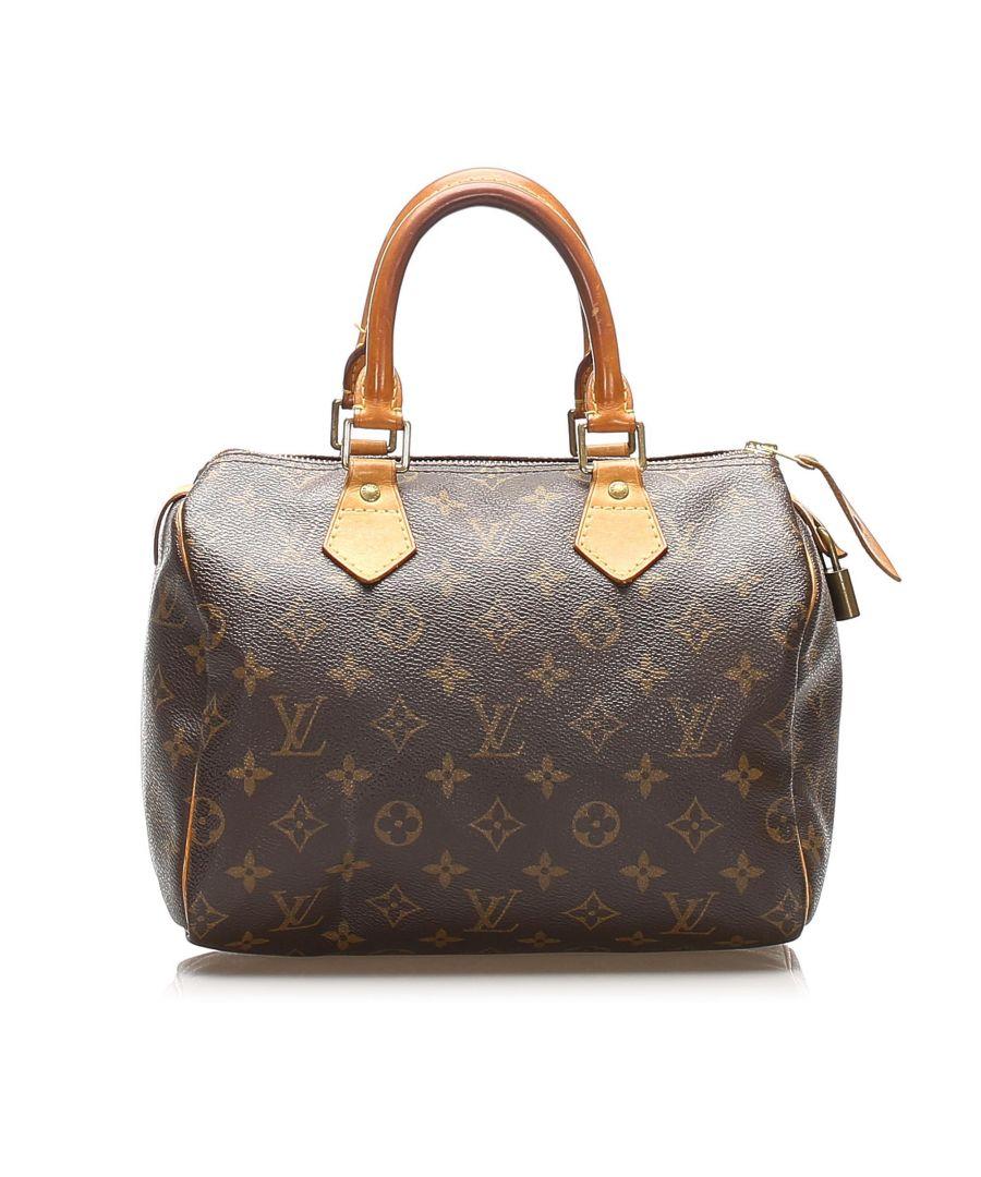Image for Vintage Louis Vuitton Monogram Speedy 25 Brown