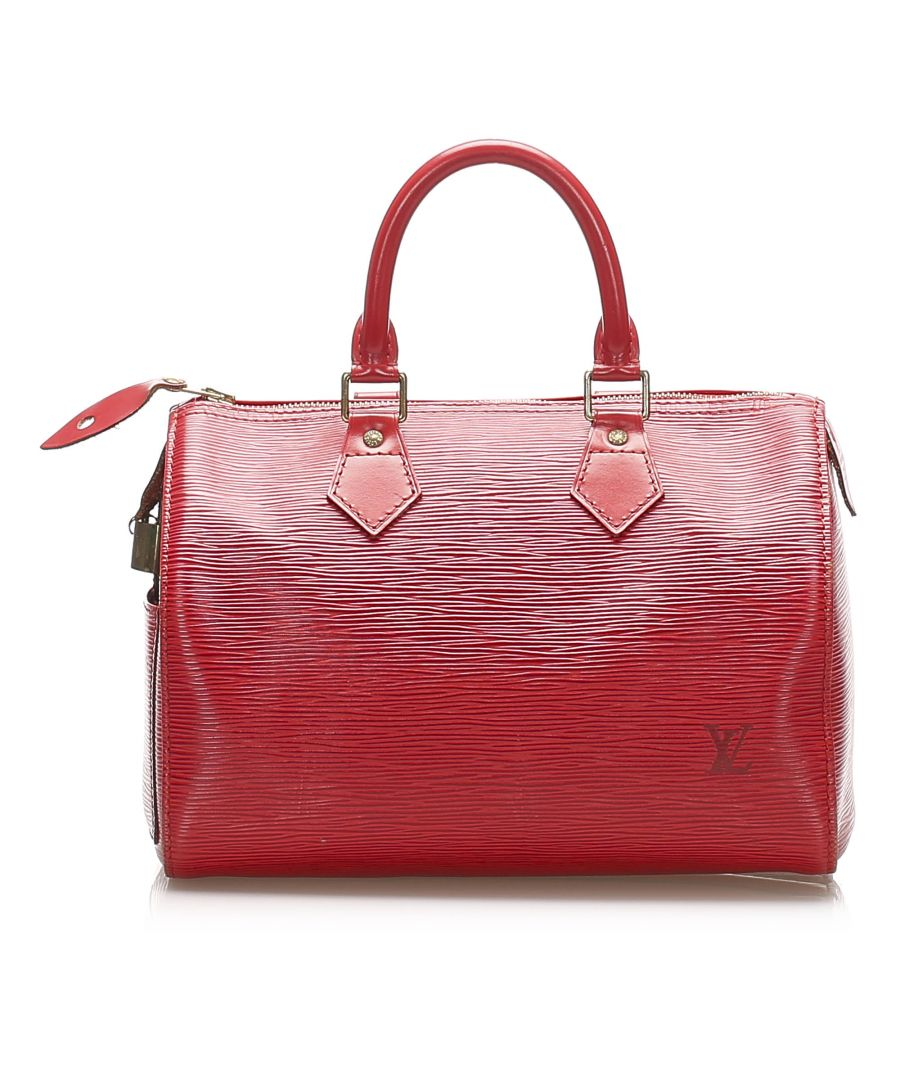 Image for Vintage Louis Vuitton Epi Speedy 25 Red