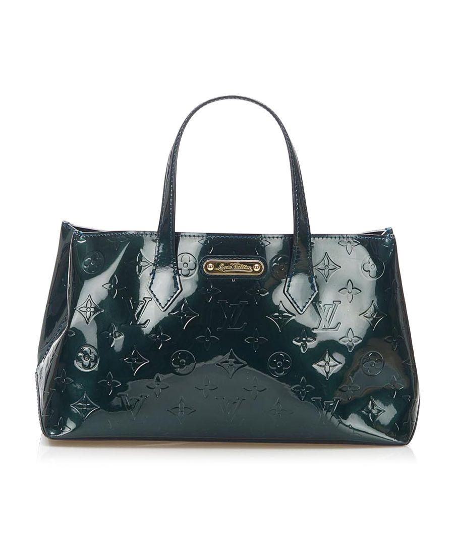 Image for Vintage Louis Vuitton Vernis Wilshire PM Green