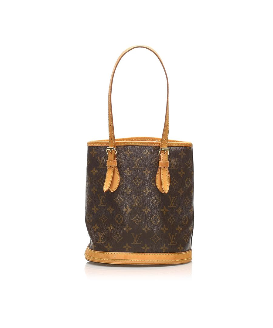 Image for Vintage Louis Vuitton Monogram Petit Bucket Brown