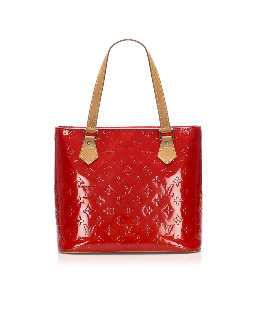 Image for Vintage Louis Vuitton Vernis Houston Red