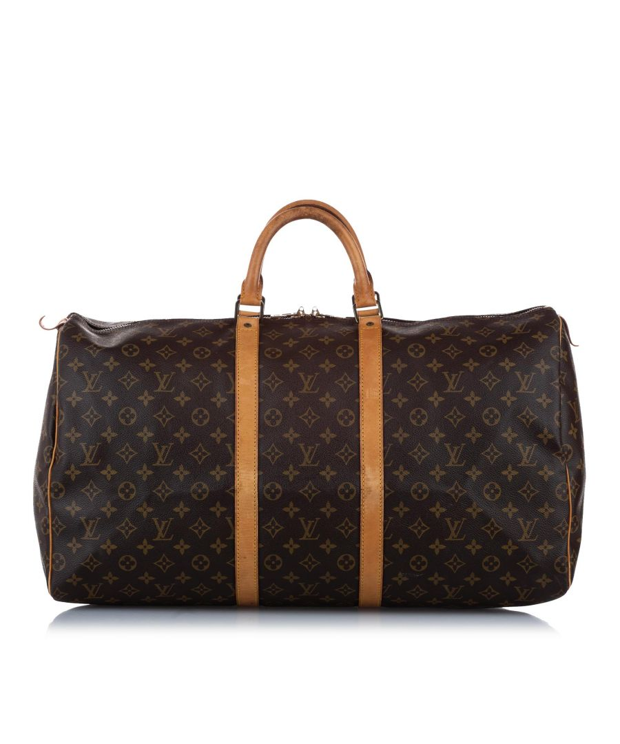Image for Vintage Louis Vuitton Monogram Keepall 55 Brown