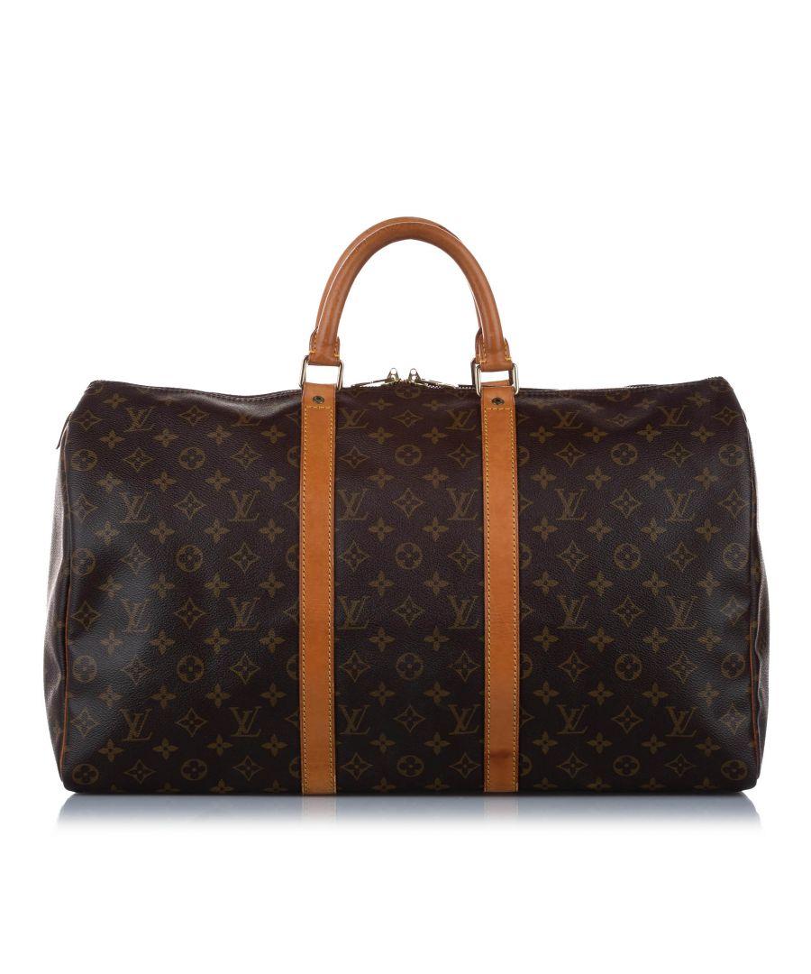 Image for Vintage Louis Vuitton Monogram Keepall 50 Brown