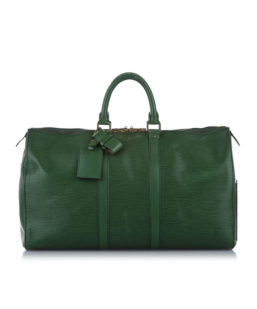 Image for Vintage Louis Vuitton Epi Keepall 45 Green
