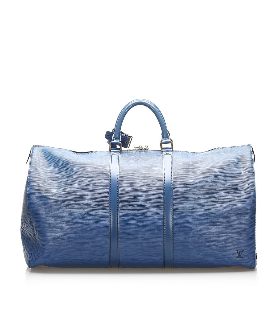 Image for Vintage Louis Vuitton Epi Keepall 55 Blue