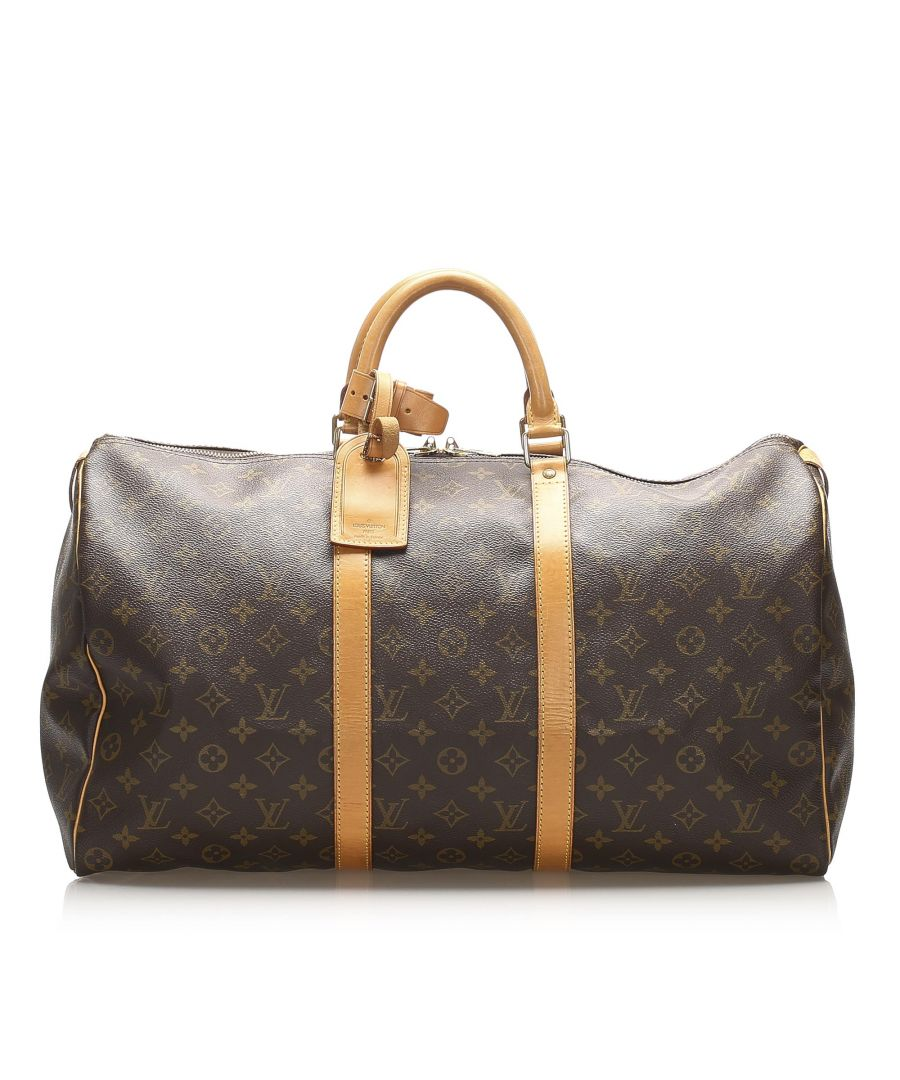 Image for Vintage Louis Vuitton Monogram Keepall 50 Brown