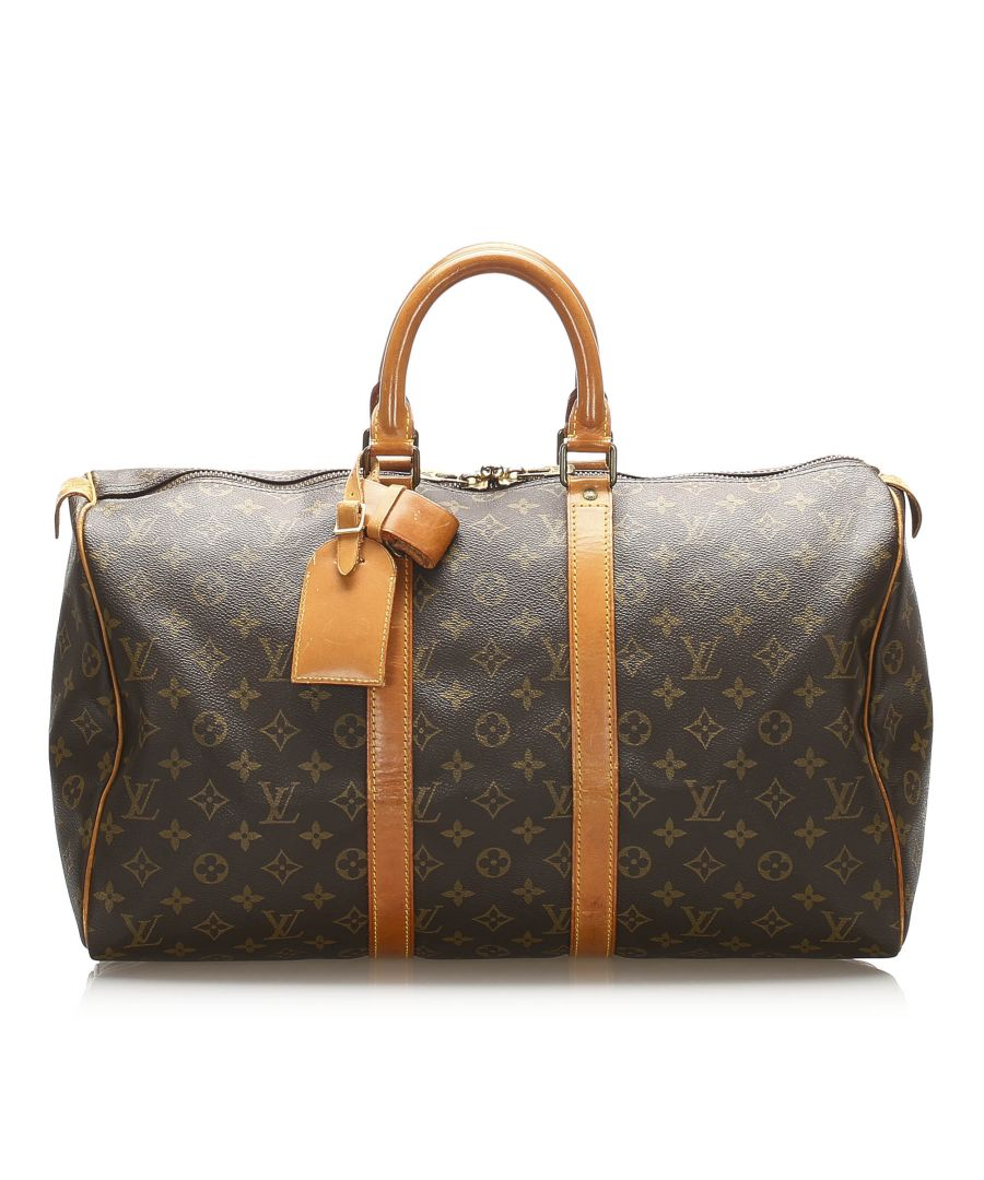 Image for Vintage Louis Vuitton Monogram Keepall 45 Brown