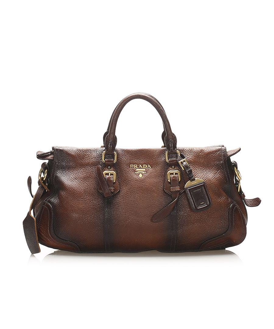 Image for Vintage Prada Cervo Antik Handbag Brown