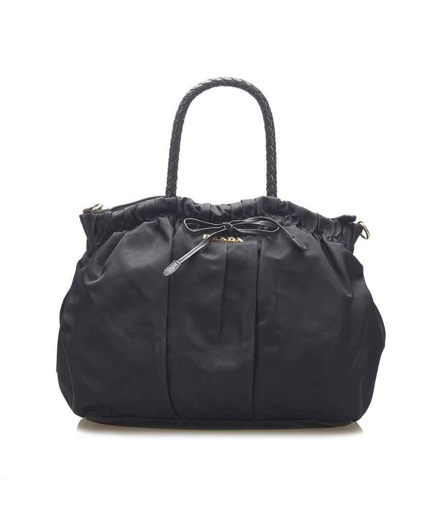 Image for Vintage Prada Tessuto Satchel Black