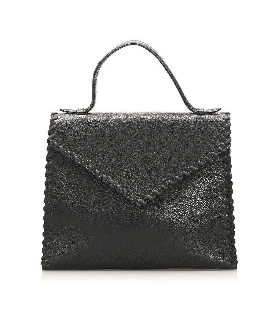 Image for Vintage YSL Leather Handbag Black