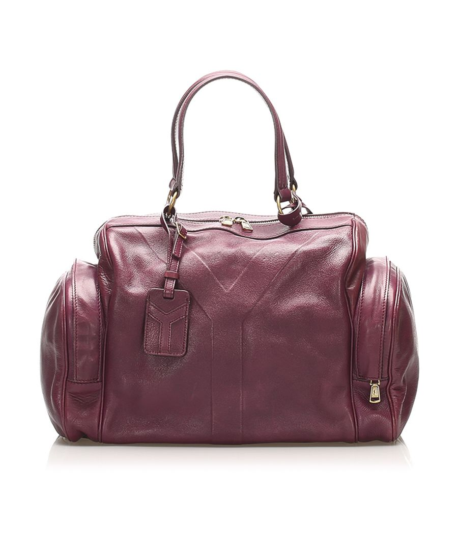 Image for Vintage YSL Leather Handbag Red