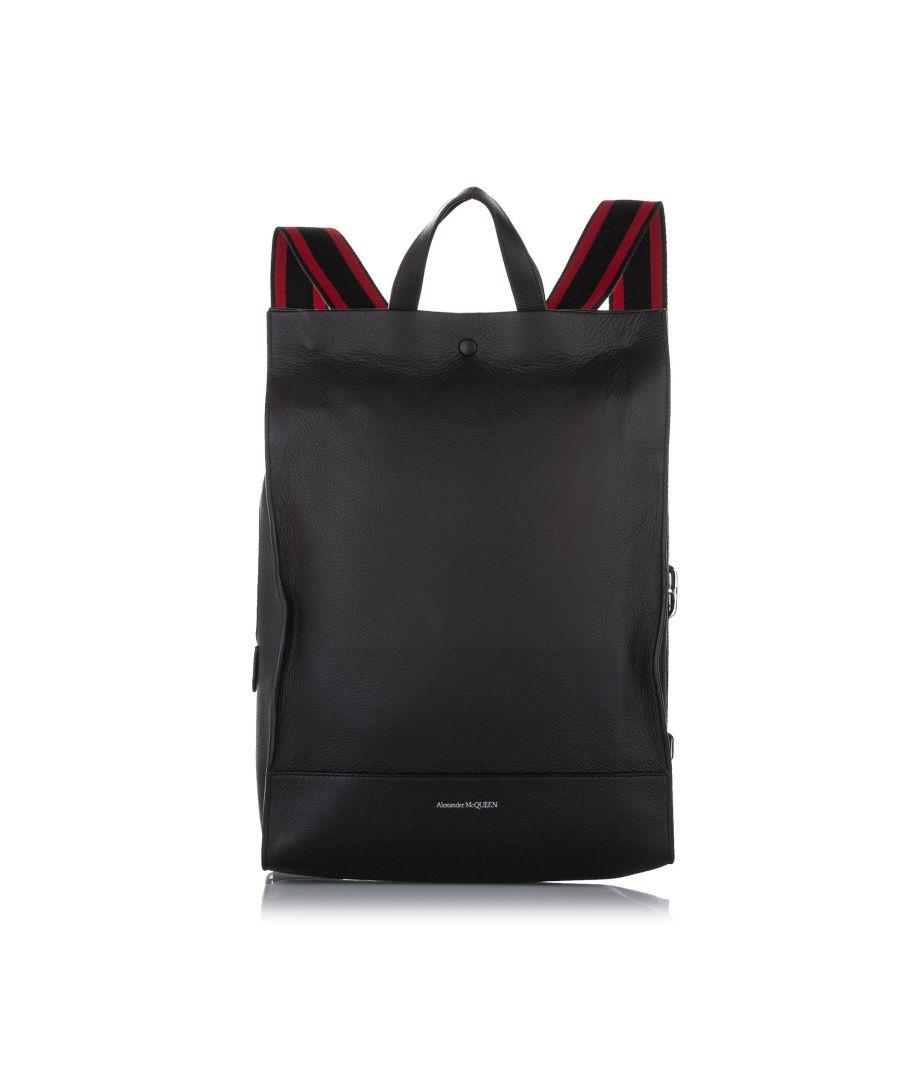 Image for Vintage Alexander McQueen Leather Backpack Black