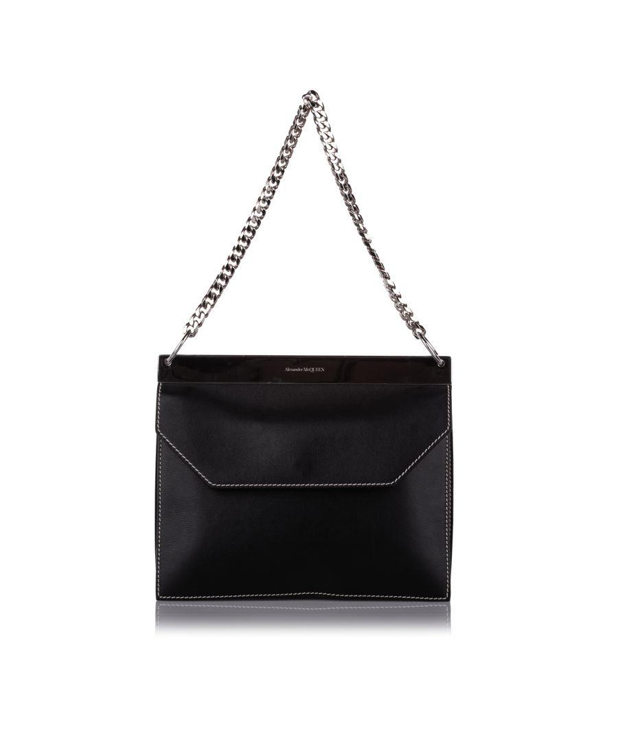 Image for Vintage Alexander McQueen Leather Shoulder Bag Black