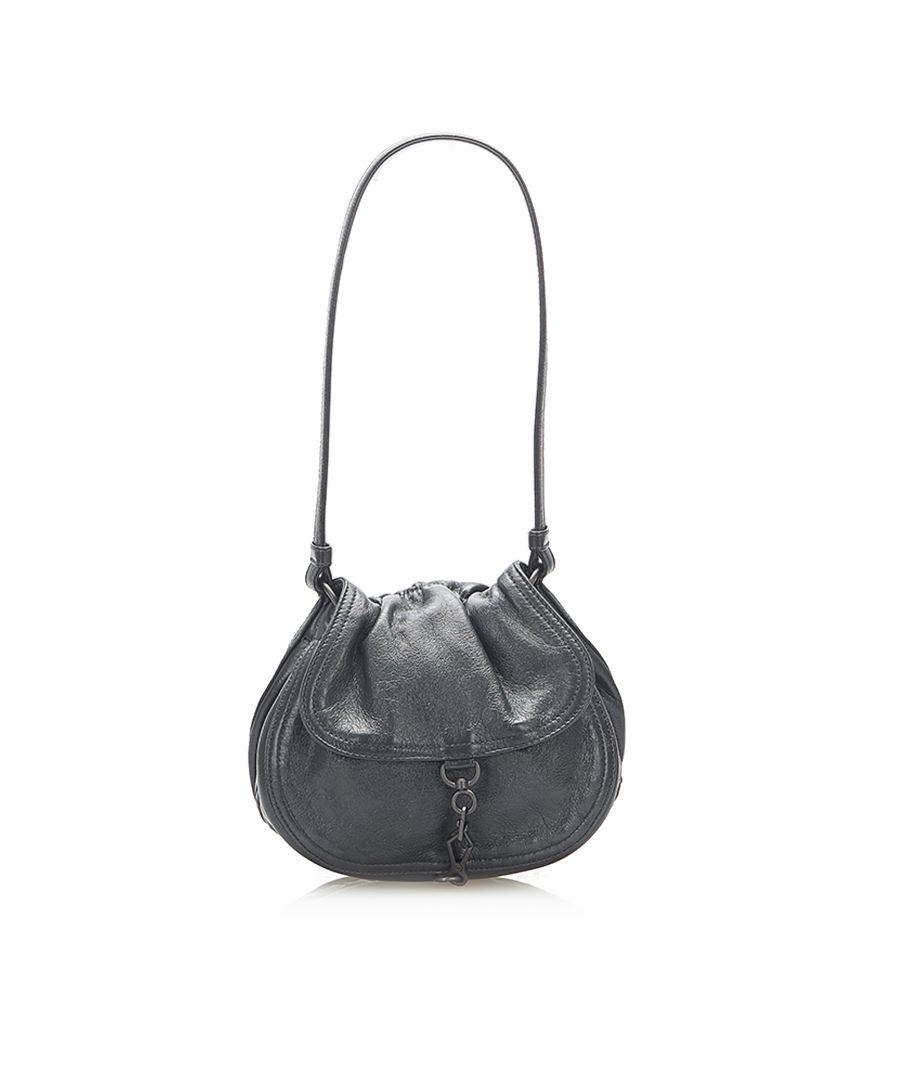 Image for Vintage Bottega Veneta Leather Shoulder Bag Gray