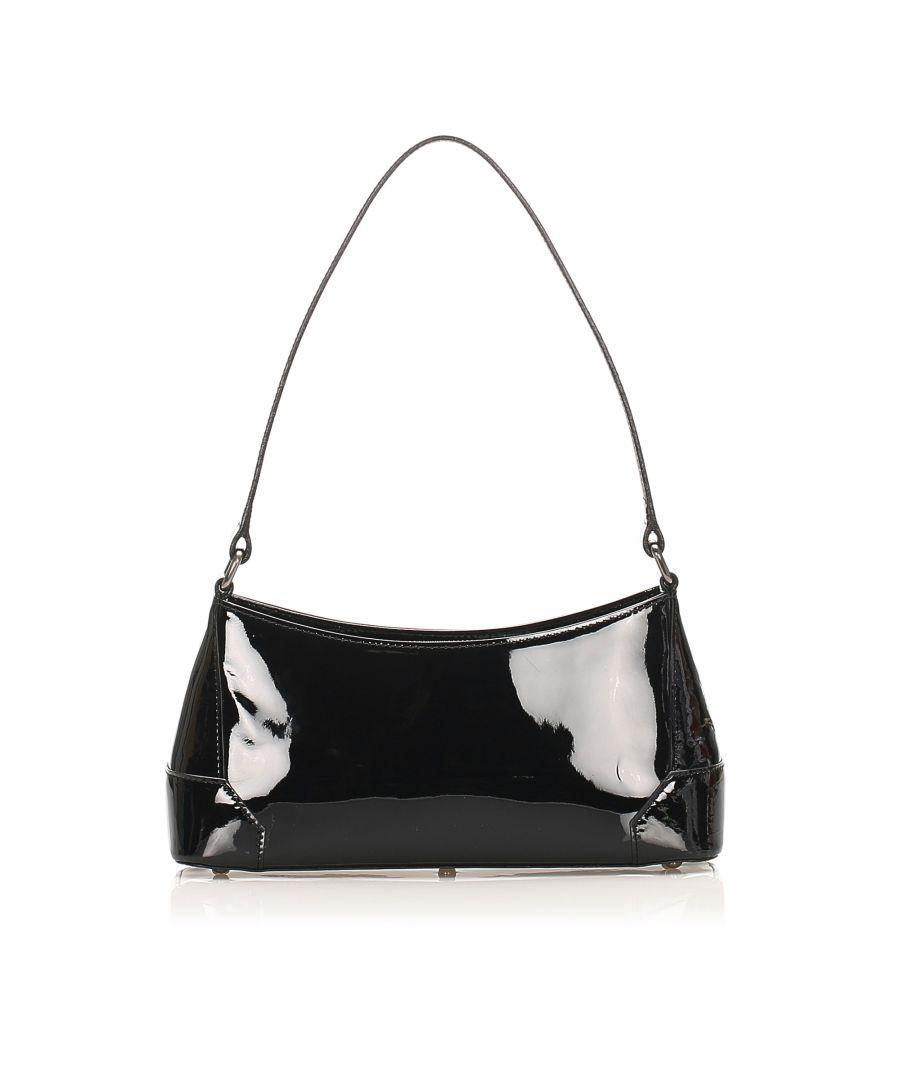 Image for Vintage Burberry Patent Leather Shoulder Bag Black