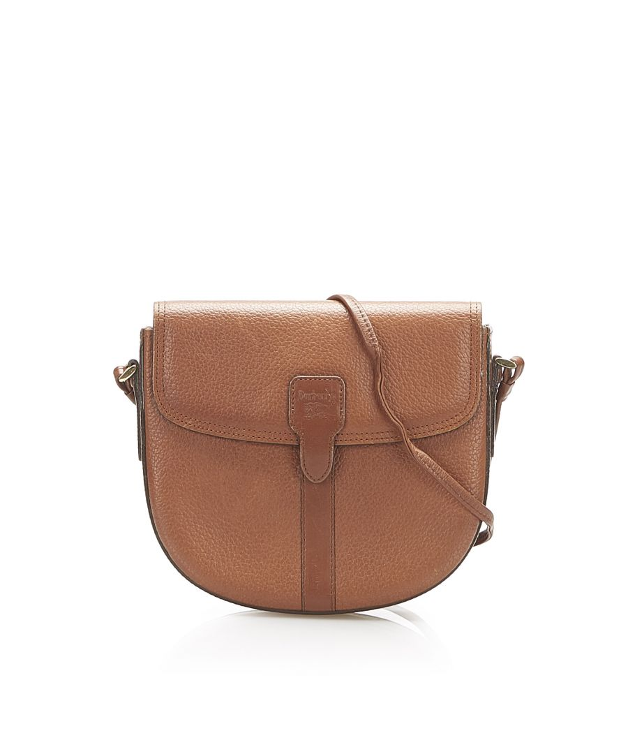 Image for Vintage Burberry Leather Crossbody Bag Brown