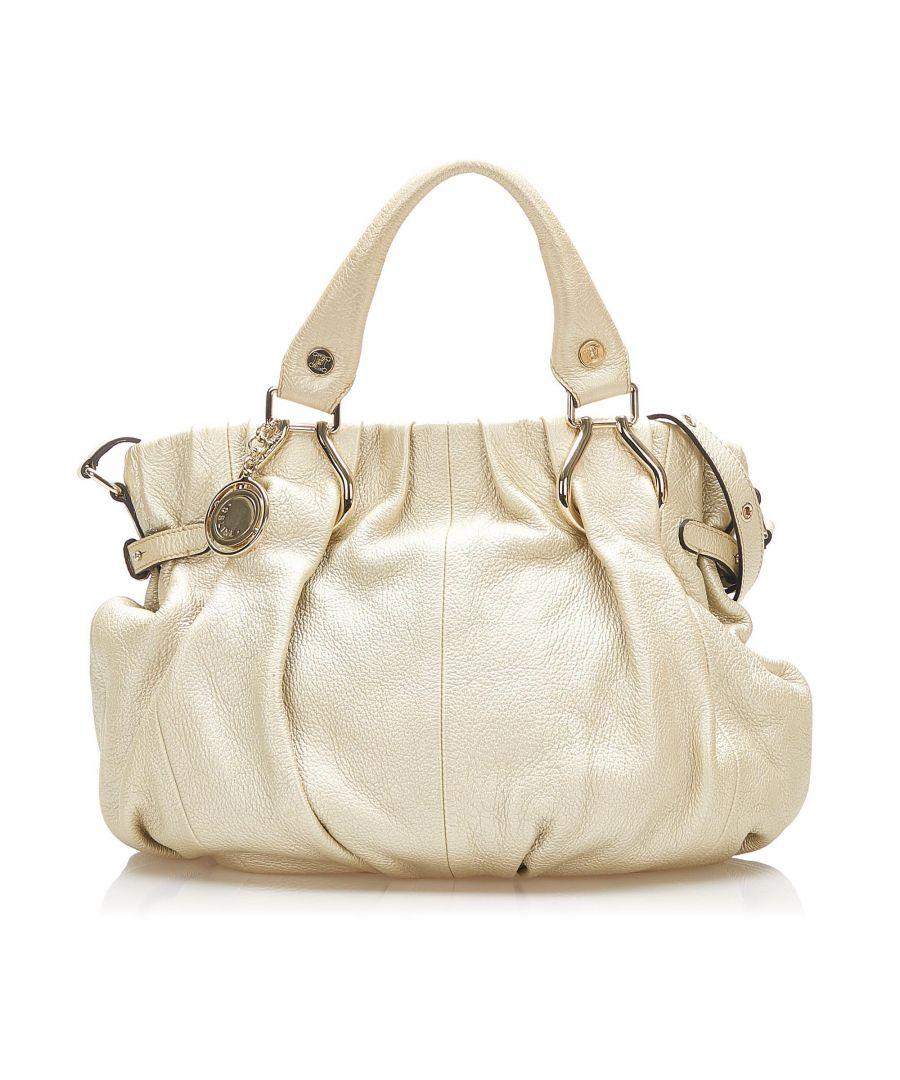 Image for Vintage Celine Leather Satchel White