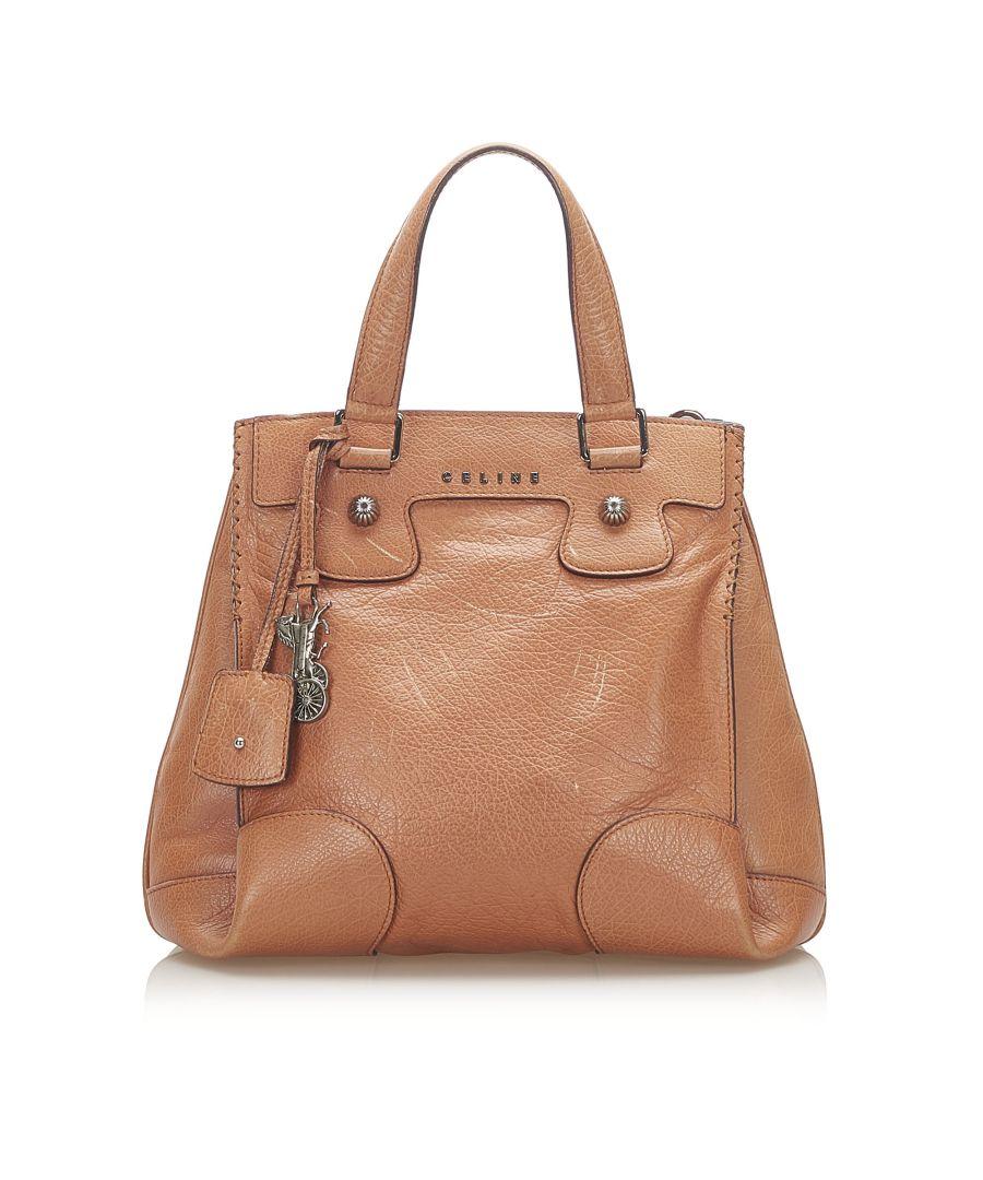 Image for Vintage Celine Orlov Leather Satchel Brown