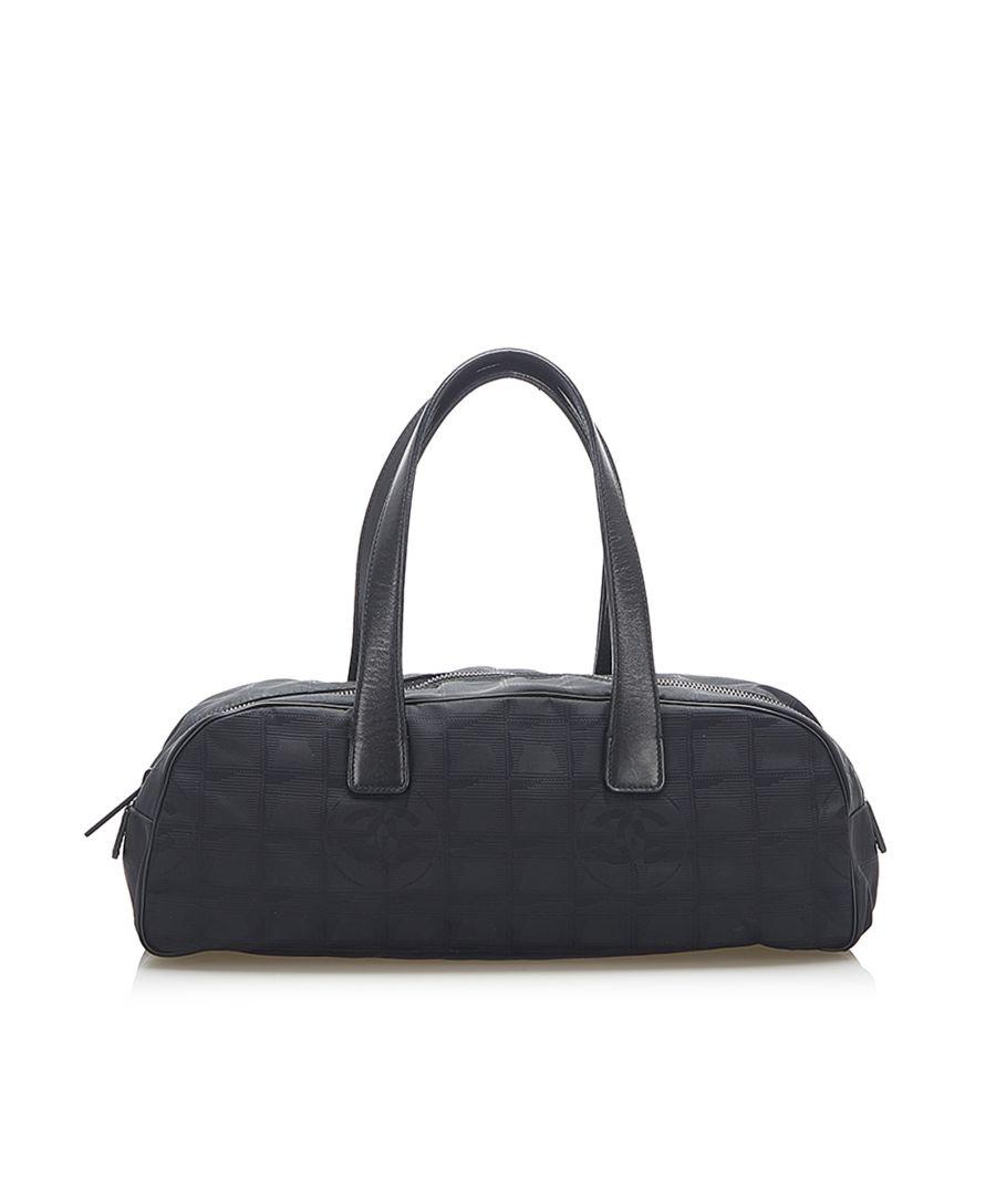 Image for Vintage Chanel New Travel Line Canvas Handbag Black
