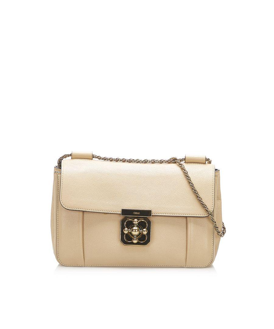 Image for Vintage Chloe Elsie Leather Crossbody Bag White