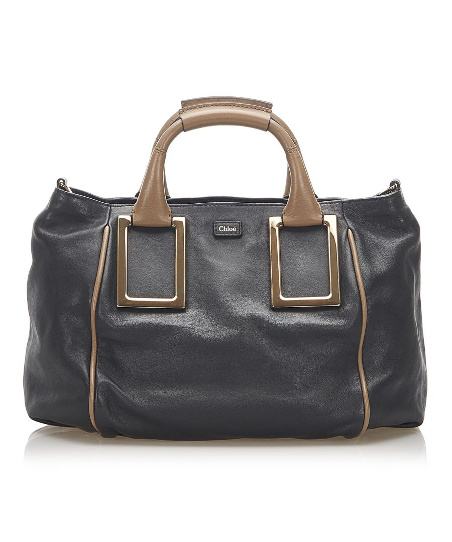 Image for Vintage Chloe Ethel Leather Satchel Black